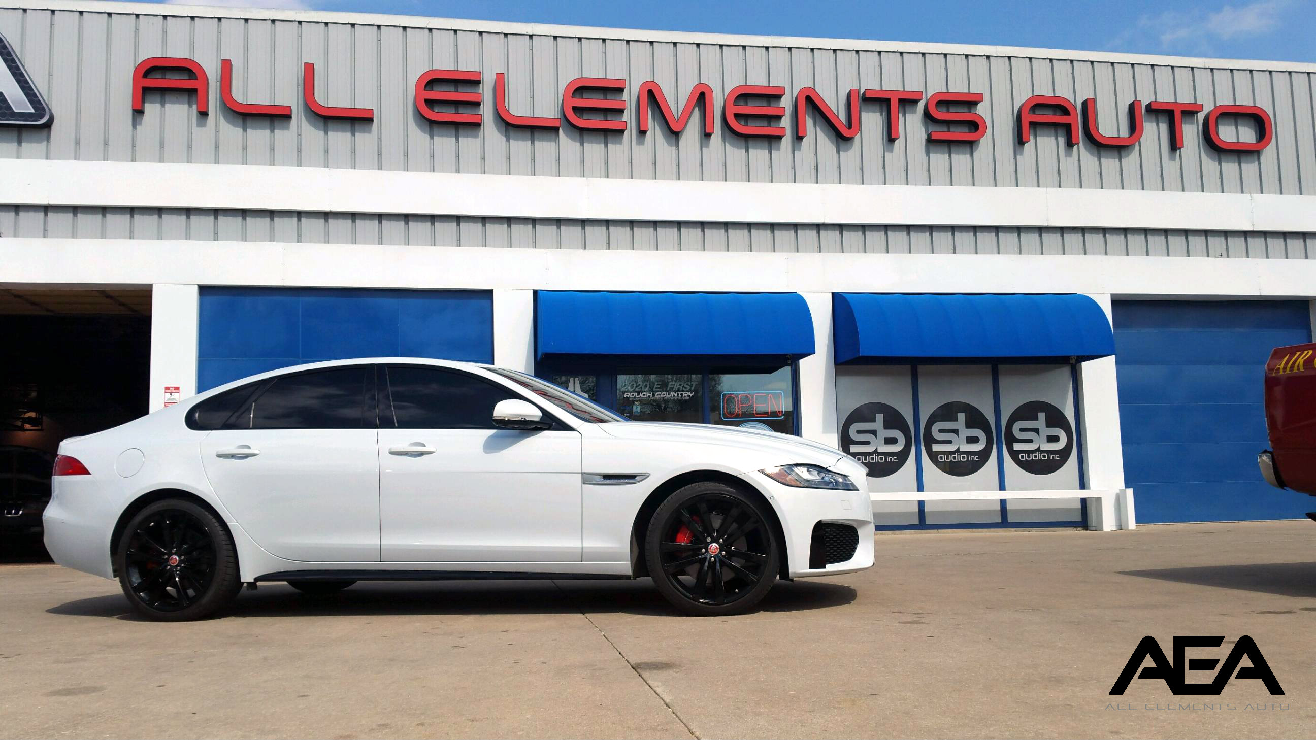 Jaguar powder coated stock wheels