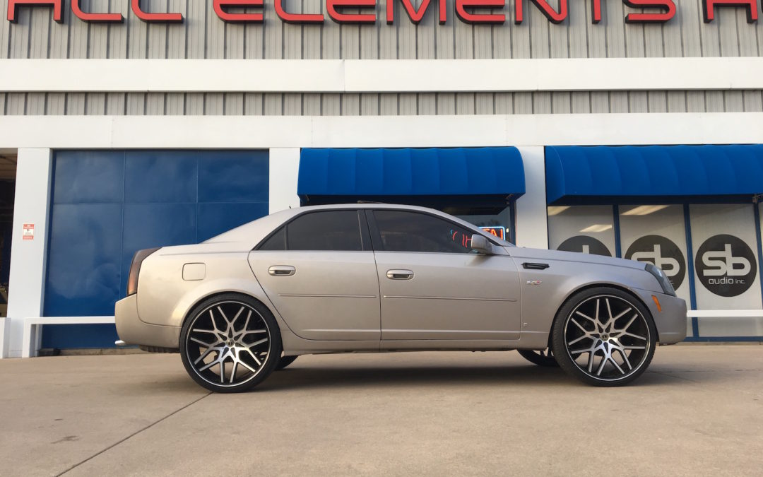 Custom Lift on a Cadillac CTS to fit 24″ Wheels