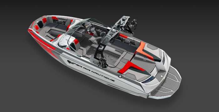2019 Nautique Red G23 Side Interior View