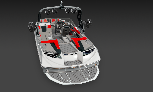 2019 Nautique Red G23 Transom View