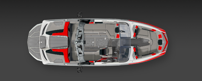 2019 Nautique Red G23 Top Interior View