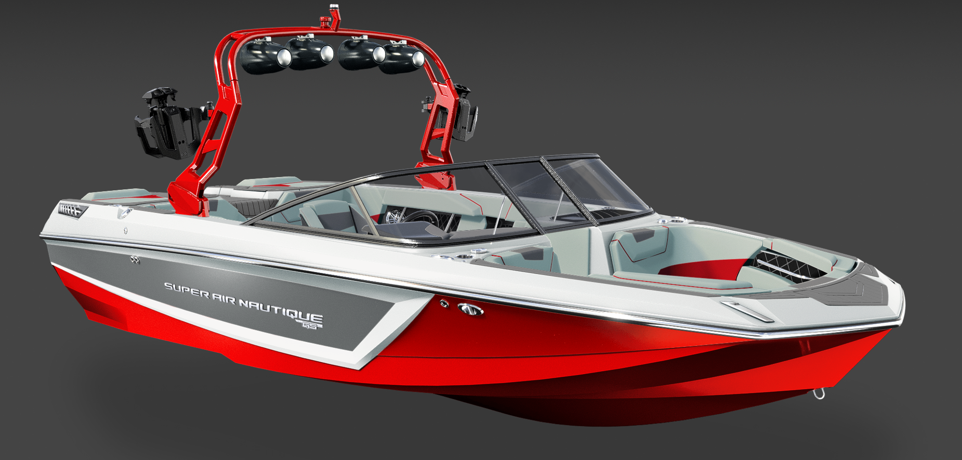2019 Super Air Nautique Red and Gray GS22 for sale in Wichita, Kansas at All Elements Auto and Marine