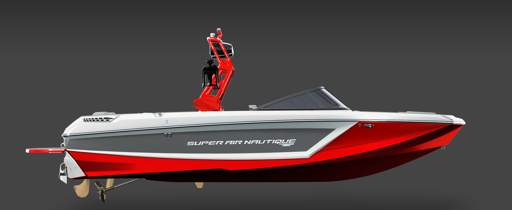 2019 Nautique Red GS22 Side View