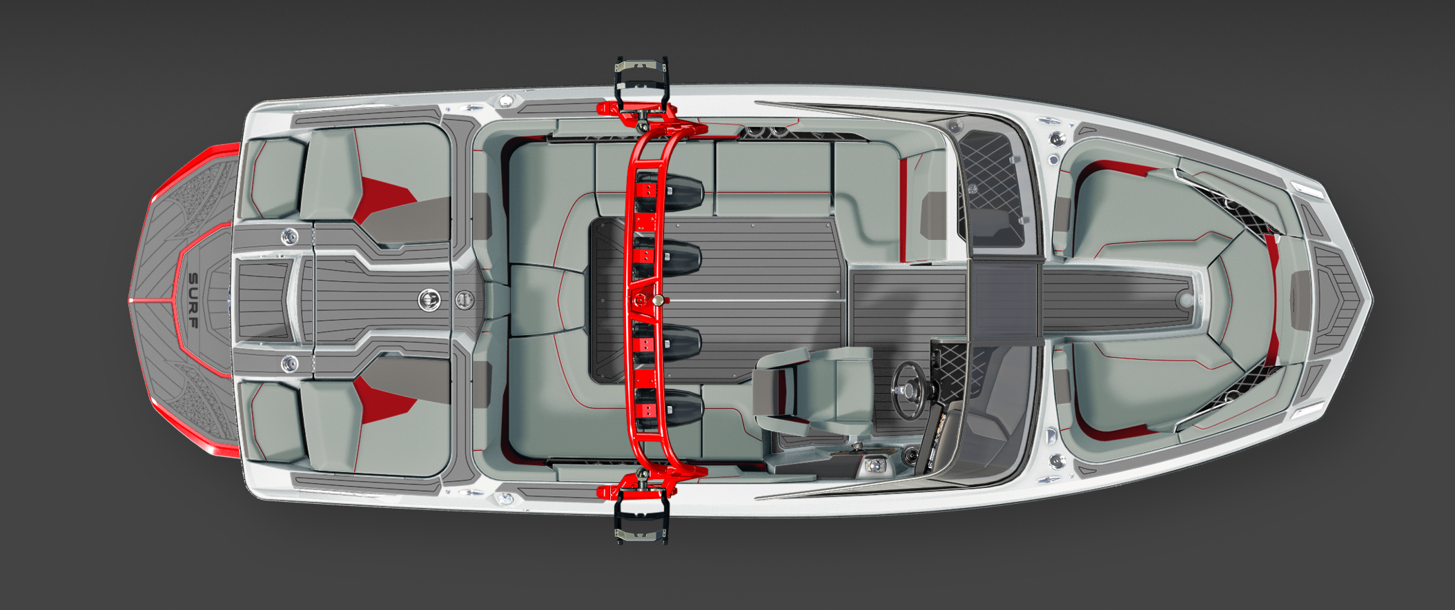 2019 Red GS22 Top View